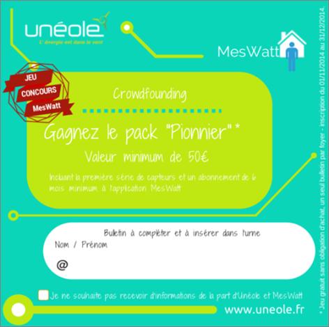 Unéole MesWatts jeu crowdfonding