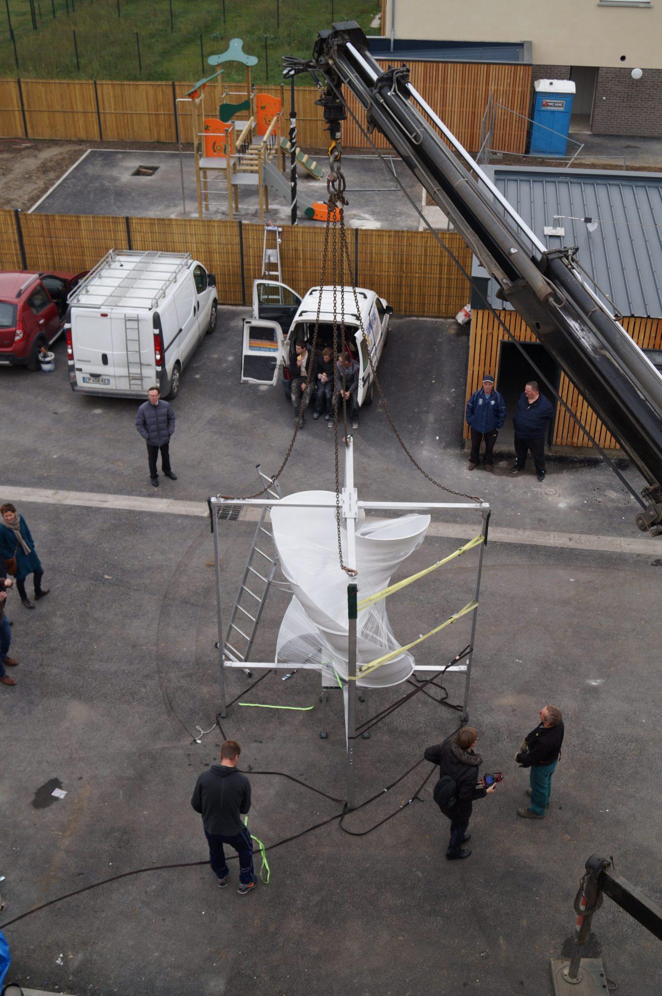 Unéole installe ses éoliennes à la SA du Hainaut