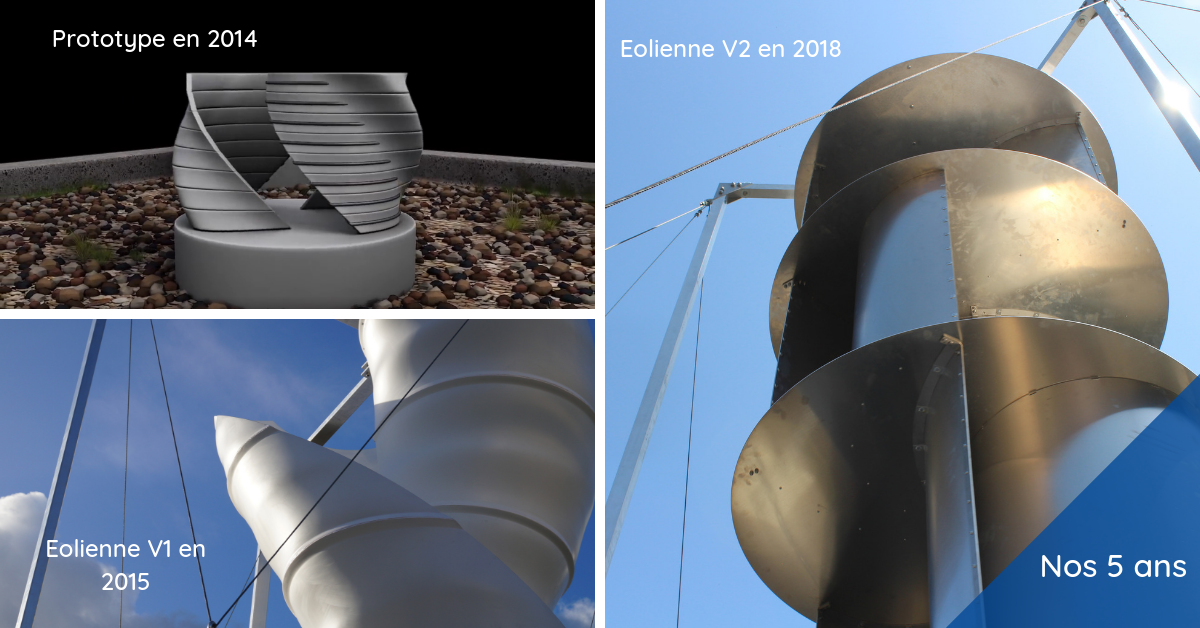 Evolution de l'éolienne : de la V1 à la V2