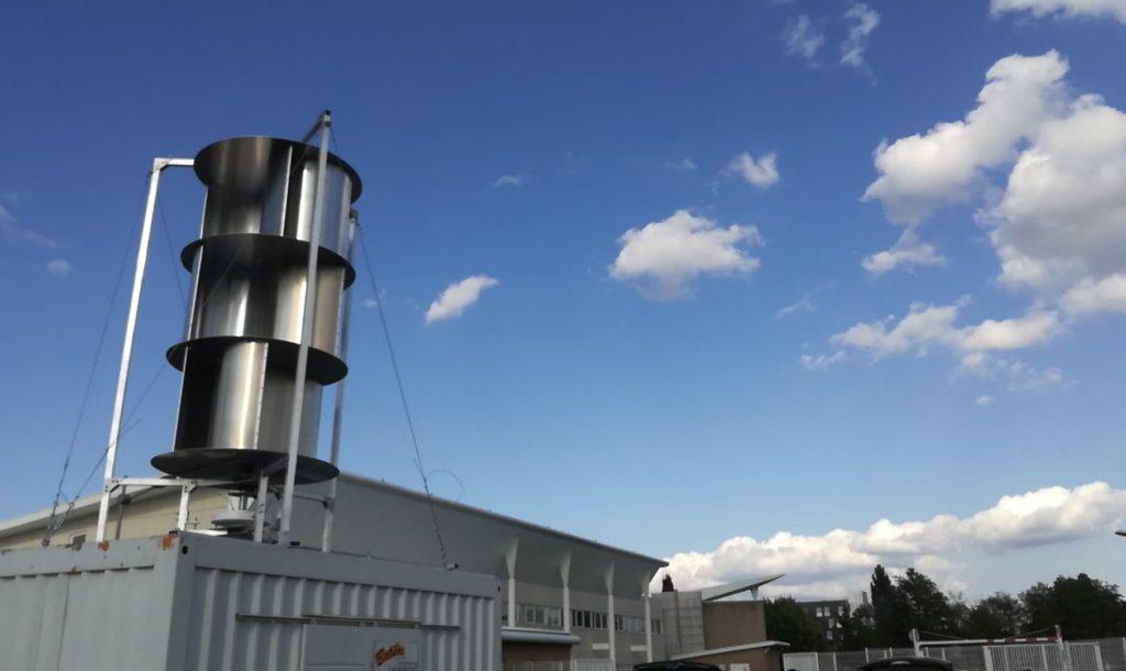 Eolienne-Faculté-Béthune-1024x610 Une éolienne V2 à la Faculté des sciences appliquées de Béthune